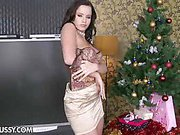 Sindy Dollar is getting ready for Christmas. Decorating the...