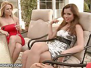 A little champagne made the girls horny in a very short...
