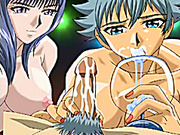 Ghetto hentai sharing bigcock and swallowing cum