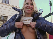 Amateur Adrienne screwed up for money