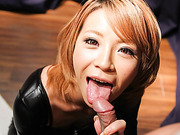 Busty Sumire Matsu On Her Knees To Suck Cock - More at javhd.net