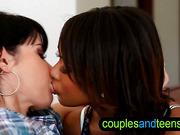 Black teen gets kissed