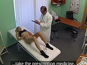 Doctor fucks his blonde chick patient