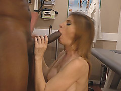 Thight nurse fucked by her black patient