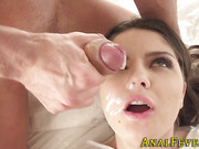 Ass pounded babe spermed