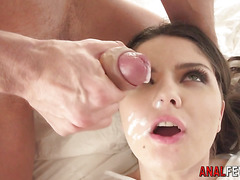 Anal whore gets fingered