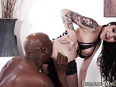 Ass rimmed emo babe sucks