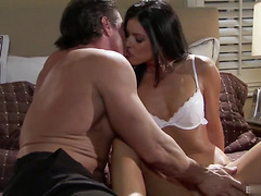 Great sex with amazing brunette mature with piercing