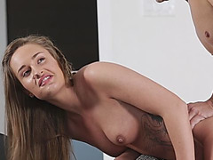 Two girls banged by horny guys