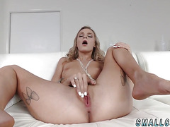 Blonde hard orgasm Tiniest In The Agency