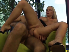 Taking That Huge Cock Up Her Ass