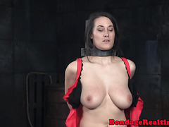 Submissive beauty orgasms while toyed