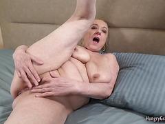Sexy granny cant resist a big hard cock