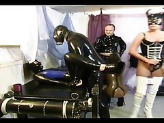 Three girls in latex getting fucked