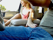 Stranded Dakota Skye fucked in the van