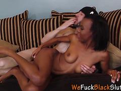 Black skank takes big rod