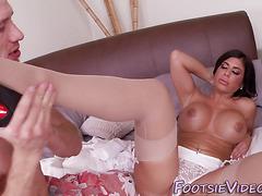 Rimmed babe feet spermed