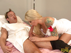 Blonde Nurse With Big Tits Fucks Her Patient
