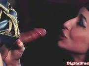 Busty Cleopatra seducing Mark Anthony