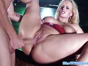 Squirting huge titted pornstar Angel Wicky banged