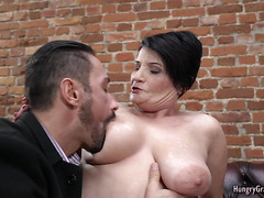 Granny With Big Tits Loves Hard Cock