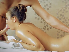 Sexy erotic massage with a happy and cum filled ending