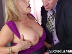 Sexy Blonde Granny With Wonderful Tits Enjoys Sex
