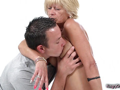 Sexy granny enjoys fucking hard with a big cock
