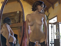 big tits MILF dancing in lingerie and hot striptease