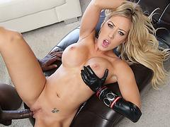 Blonde Capri Cavanni enjoys sucking and fucking Lexington Steele huge cock