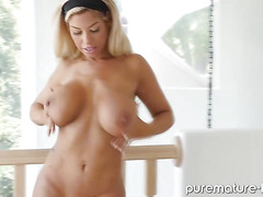 Blonde sporty MILF gets fucked hard