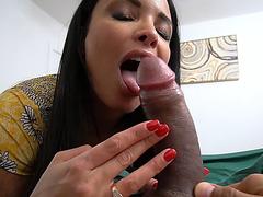 Hot mom Anissa Kate sucks her stepsons massive cock!