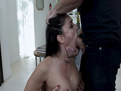 Kyle Mason dominates Sheena Ryders body and push her up against the wall