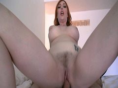 Redhead mommy lets stepson stuf her muff with his young yummy cock