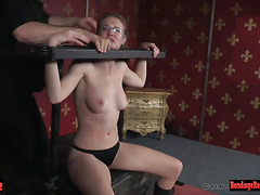 Dominant master punishing his submissive