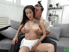 Babe got served with big cock