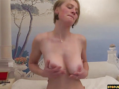 Blonde milf trying her best to be a pornstar part 3