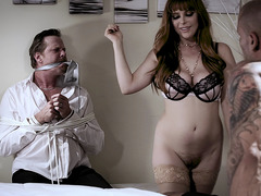Cheating wife fuckc with lover in front of husband