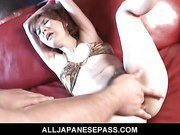 Hot Japanese MiLF Maria Asagiri bound and toyed