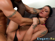 Glam slut gets facial after rough sex