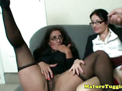 Spex milfs wanking and watching