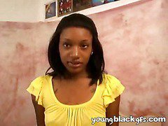 Naughty teen ebony girlfriend