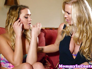 Busty milf Rebecca More in threeway with Mia Malkova