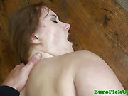 Real picked up euro gets pussy rammed by stranger