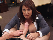 Big tits MILF get fucked in the pawnshop a pervy owner