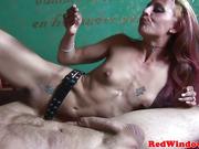 Skanky redlight hooker swallows some cum