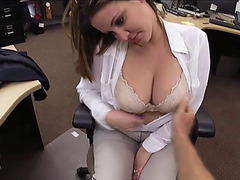 Horny Busty Woman gets pawned hardest in pawnshop by a pervy owner