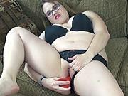 Plump wife Alexsis Sweet fucks her hot ass with a dildo