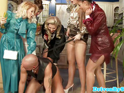 Glamour pee fetish sluts piss on dude