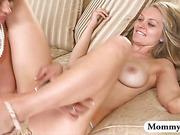 Horny stepmom Eva Notty threesome in bed
